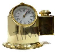 Nautical Brass Table Clock