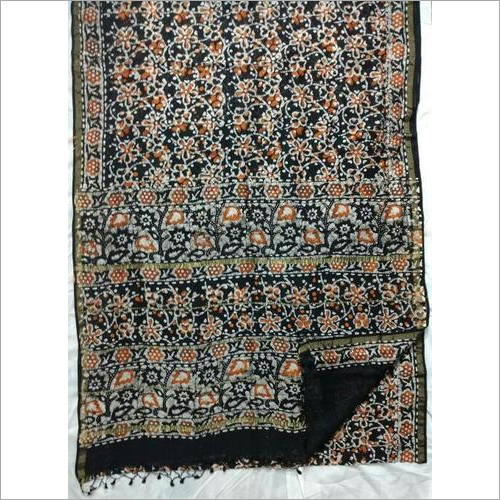 Batik Print Chanderi silk sarees with blouse