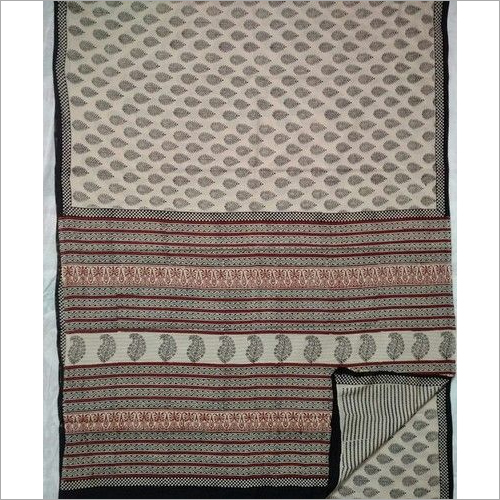 Bagru Print Cotton Sarees with Blouse