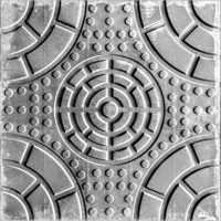 Full Circle Chequered Tile ( Color Grey)