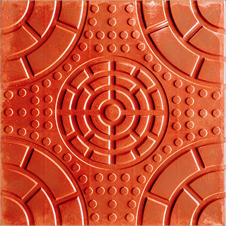 Full Circle Chequered Tile ( Color Red)