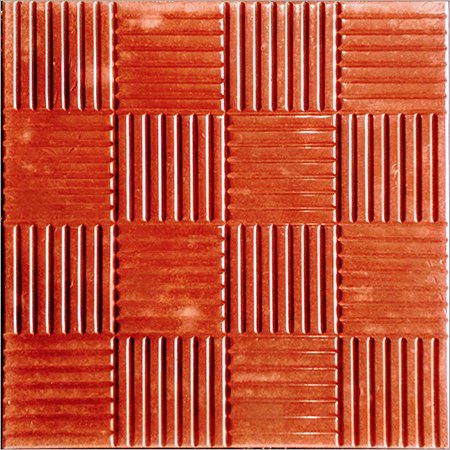 Pencil Chequered Tile (Color Red)