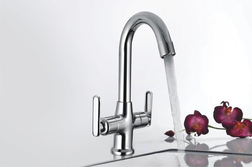 Brass Center Hole Basin Mixer Ruby