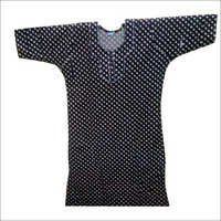 Black Cotton Nighty