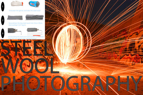 steel wool for fireworks photography