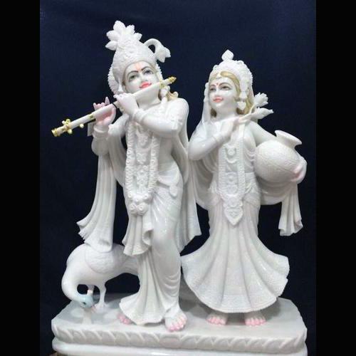 White Marble Radha Krishana Statue