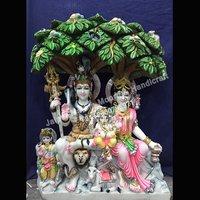Marble Shiv Parwati Statue