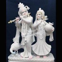 Marble Radhe Krishna Statue