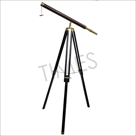 Antique Nautical Telescope With Stand