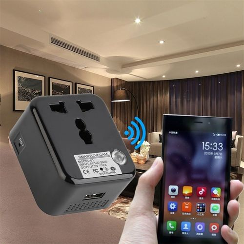 SPY PLUG WI-FI CHARGER WITH VIDEO RECORDER LIVE MONITORING