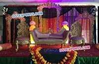 Muslim Wedding Beautiful Carved Sofa Set