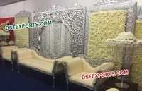 Wedding Stage Silver Carved Screens