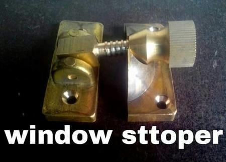 Brass Window Stopper