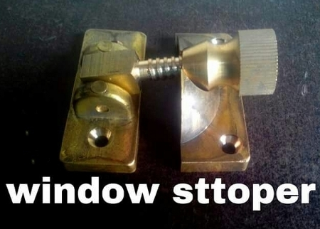 Brass Window Stopper