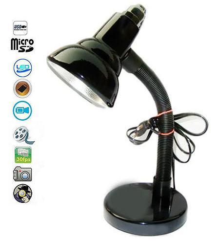 SPY CAMERA IN TABLE LAMP 20 HOURS RECORDING