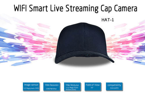 SPY WIFI REMOTE CONTROL LIVE ON LINE SMART LIVE STREAMING CAP CAMERA