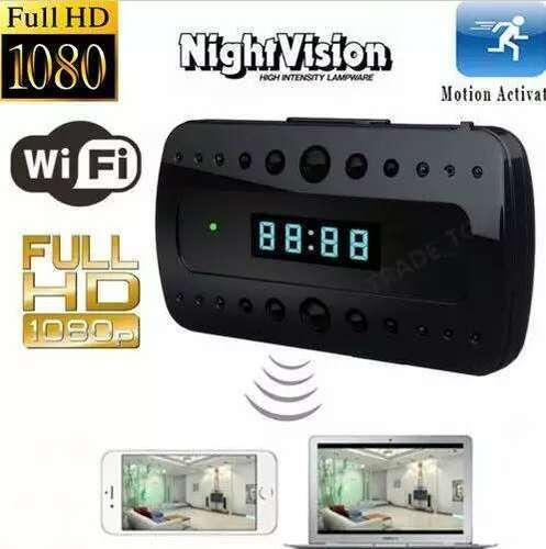 Spy 1080P SPY Camera Hidden Camcorder P2P WIFI Wireless Alarm Clock