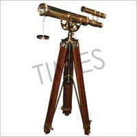 Nautical Double Barrel Telescope With Tripod