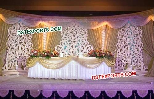 Wedding Stage Flower Design Back Frame