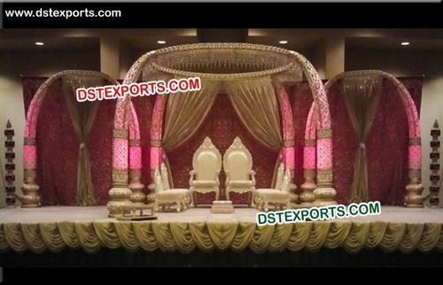 Indian Wedding Elephant Teeth Pillar Mandap