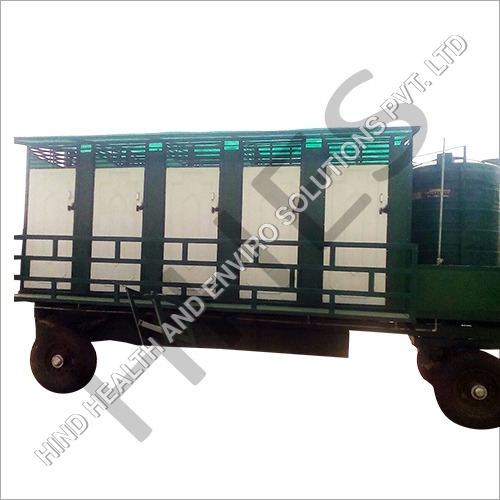 Portable Ten Seater Mobile Toilet Van