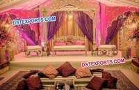 Asian Wedding Golden Swan Jhula Set