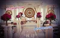 Round Frames Wedding Stage Back Decors