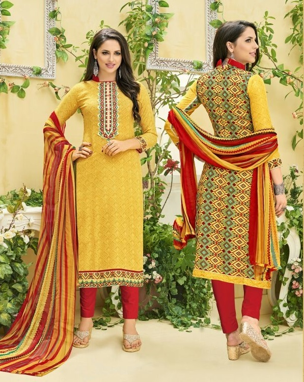 Cotton Embroidered Salwar Kameez