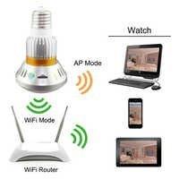 Spy Wi-Fi LED Bulb Camera 720P WiFi Remote Phone View
