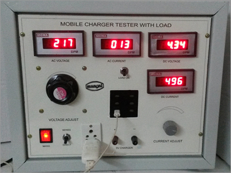 Mobile charger tester with load