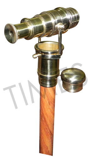 Antique Spy Telescope Walking Stick