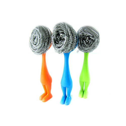 cute type ss scourers with handle