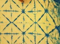 Hand Block Printed Yellow Fabric