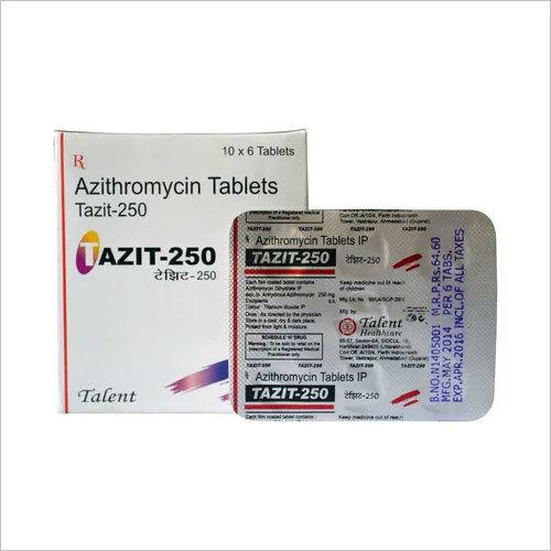 TAZIT-250 Tablet (Azithromycin-250-mg-6-Tablet)