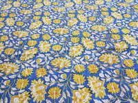 Hand Block Flower Printed Fabric
