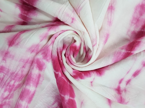 TIE Dye Cotton Hand Block Printed Textured Fabric