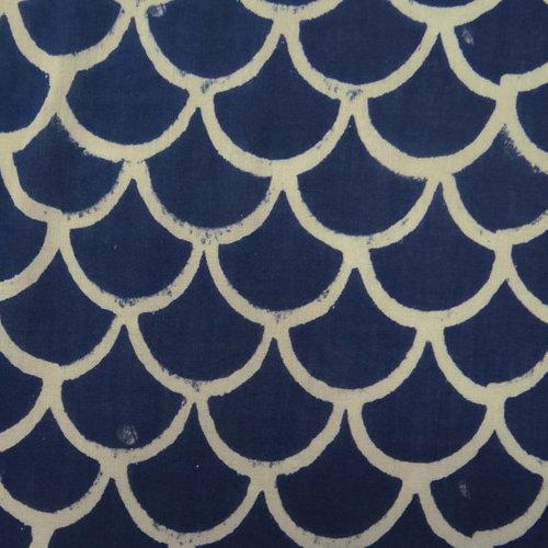 Hand Block Printed Pattern Fabric