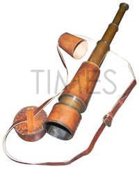 Nautical Antique Leather Pullout Telescope