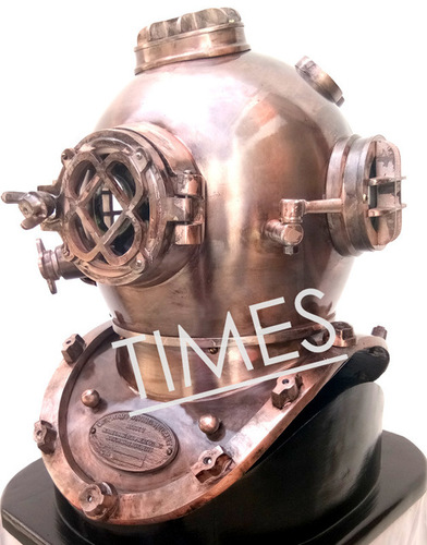 Antique Brass Marine Diving Helmet