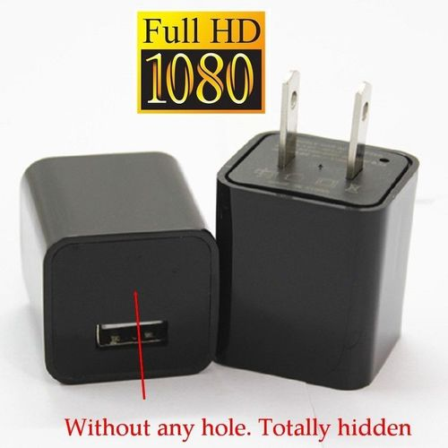 SPY 1080P MINI AC ADAPTER CHARGER HIDDEN SPY CAMERA LOOP RECORD 8G MEMORY