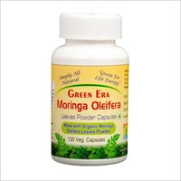 Organic Moringa Oleifera Leaves powder 120 Veg. Capsules Bottle