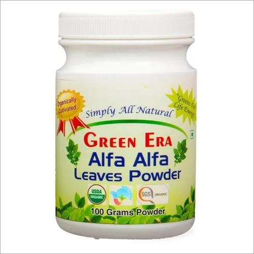 Organic Alfa Alfa Leaves Powder Bottle