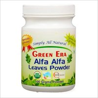 Organic Alfa Alfa Leaves Powder Bottle