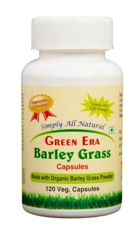Organic Barley Grass Powder 120 Veg.Capsules Bottle