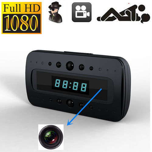 SPY HIDDEN CAMERA CLOCK HD 1080P REMOTE NIGHT VISION MOTION DETECTION