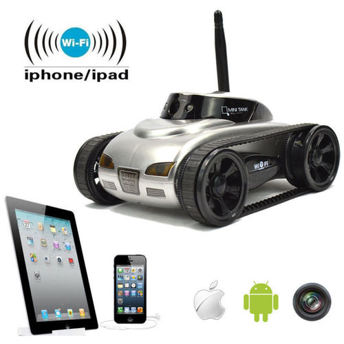 SPY WI FI TANK CAR TOY WITH CAMERA REMOTE CONTROL BY IPHONE ANDROID