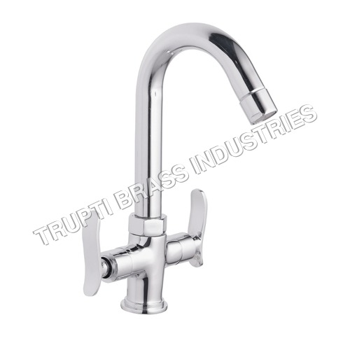 Chrome Plated Central Hole Basin Mixer