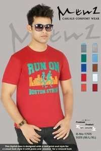 Mans V Neck Half Sleeves T-shirt