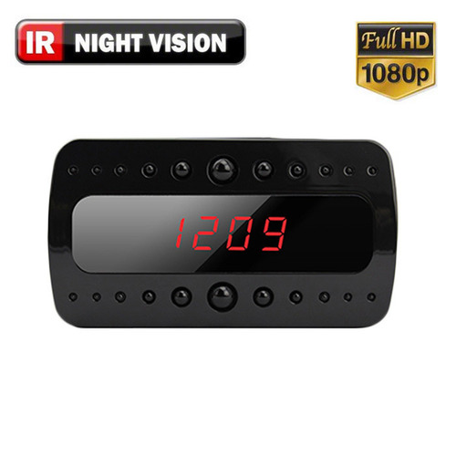 SPY MOTION ACTIVATED MINI CLOCK HIDDEN CAMERA WITH NIGHT VISION 1080P HD