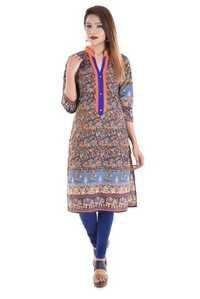 Animal Printed Cotton Kurti